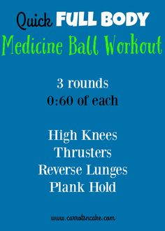 Quick Full Body Medicine Ball Workout