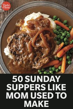 Supper Meals, Sunday Dinner Recipes, Sunday Dinners, Sunday Suppers, Supper Recipes, Dinner Menu, Meat Recipes, Cooking Recipes, Church Potluck