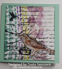 Fasters korthus: Watercolour, ink and botanical bird 2.