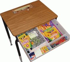 Student desk organizers on pinterest student chair - How to organize your desk at home for school ...