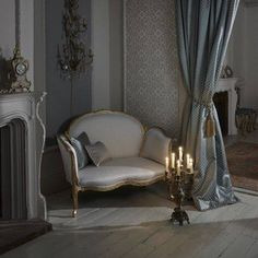IMPERIALE   A stately and imposing collection of decorative fabrics. Opulent jacquard weaves and embroideries portrayed in indulgent shades of ebony, antique gold and ivory.