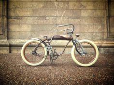 Steam bicycle Velo Vintage, Vintage Cycles, Vintage Bikes, Vintage Motorcycles, Velo Beach Cruiser, Cruiser Bicycle, Motorized Bicycle, Rat Rods, Custom Cycles