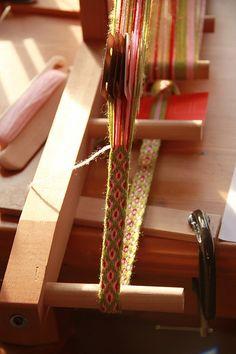 Card weaving setup by Jane Starz, via Flickr
