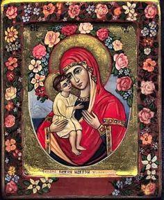 The Virgin with Child. Painter - Ivanka Kortzanova. Reproduction of an 18th  century work.  at www.kolumbus.fi