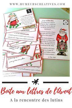 Fabriquer votre boîte aux lettres de l'Avent en attendant Noël.  Chaque jour, les enfants recevront une carte d'un des lutins du Père Noël. Une période de l'avent qui se voudra riche en magie <3  #calendrierdelavent #calendaradvent #boiteauxlettresdelavent #idéecalendrierdelavent #bricolagedenoel #activitésnoel #humeurscreatives #bricolagenoel #calendaradventforkids #lutinsnoel