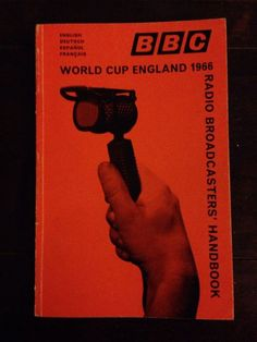 1966 World Cup Unique BBC Radio Broadcasting Handbook