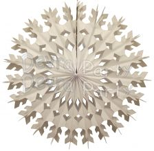 22 Inch White Tissue Paper Snowflake Decoration (12 pcs). Made in USA by Devra Party.
