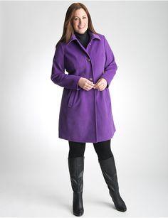 Full Figure Babydoll Coat by Lane Bryant | Lane Bryant