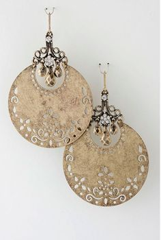 Fiery Summer Golden Raised Design Statement Earrings