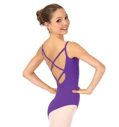 Adult Camisole Crisscross Back Dance Leotard - Style No TH5525