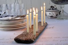 Candleholder made of reclaimed wood