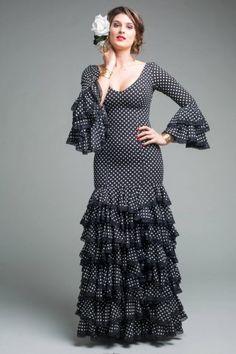 Traje de flamenca de Micaela Villa 2015: Feriante Negro