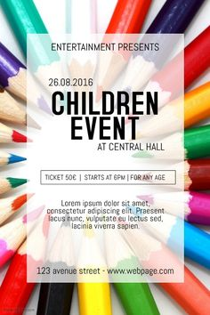 9 best kids event flyer templates images on pinterest in 2018