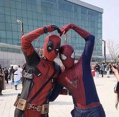 love this! credits to @merc_dead_pool #spideypool #spiderman #deadpool #peterparker #wadewilson #peterxwade #marvel #marvelfandom #marvelshipp #fanart #yaoilove #yaoi #lgbt #pride #cosplay