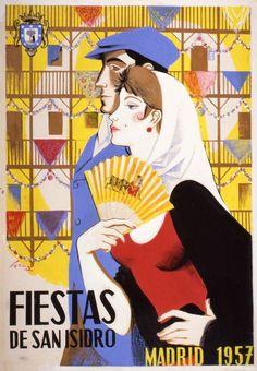 #SpanishPoster by Serny (Ricardo Summers Ysern), 1957, Cartel de las Fiestas de San Isidro, Madrid. Témpera sobre tela 108 x 77 cm