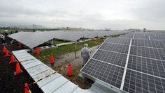 Japan opened several solar energy parks on Sunday