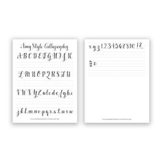 Amy Style Calligraphy Free Worksheet