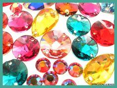 Sew-On Swarovski Flatback Jewels in delicious colours for all occasions. www.rhinestonz.co.nz