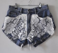 just add lace to some odd shorts!