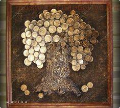 una idea con monedas