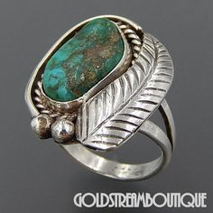 Native American Navajo Sterling Silver Greenish Turquoise Boulder Rope – Gold Stream Boutique
