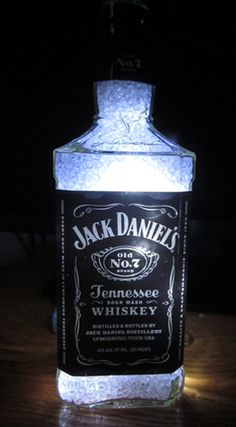 Lighted Absolut and Jack Daniel's Bottles by Julie | How to Make A Bottle Lamp