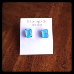 Blue Kate Spade Stud Earrings Brand new, never worn! kate spade Jewelry Earrings