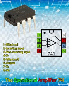 The Operational Amplifier - Elektronik - Simple Electronics, Hobby Electronics, Electronics Basics, Electronics Components, Mechatronics Engineering, Electronic Engineering, Electrical Engineering, Electronic Circuit Projects, Electrical Projects