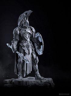 ArtStation - Ares, God of War, Alexei Popovici Fantasy Warrior, Warrior Concept Art, Armor Concept, Fantasy Character Design, Character Concept, Character Inspiration, Character Art, Gods Of War, Armadura Medieval
