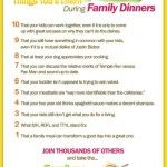 Please share (using the buttons above). Add your own Family Dinner Learnings and Laughs below in the Comments. Join the Family Dinner Challenge to the right. (You could also win some amazing prizes!)
