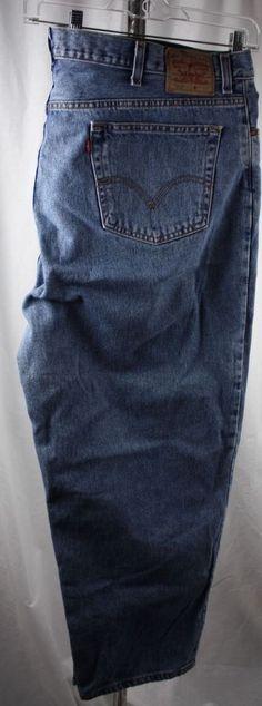 Levi's Mens Big and Tall 560 Comfort Fit 100% Cotton Blue Jeans Size 46 x 30 #Levis560ComfortFit #ComfortFit