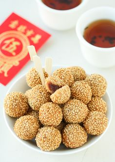 Thirsty For Tea Dim Sum Recipe #15: Mini Sesame Balls