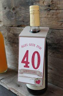 Stempelgarten: Flaschenanhänger zum Jubiläum