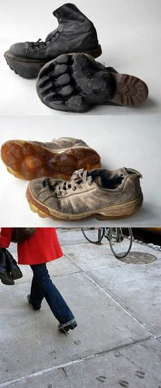 Scary footprints shoes. lol