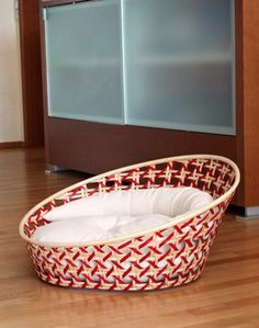 Wicker dog basket Arena, a very cosy, comfortable, dog design bed. @Svpply @SocialWicker #dogbeds #wicker