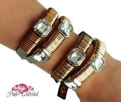 Leather Wrap Crystal Bracelet