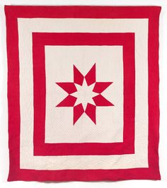 Sanderson star quilt - early 20th century.  Quilt Museum - York