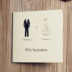Kreative Cartoon Brautpaar Einladungskarten Hochzeit OPL021 Neue Einladungskarten zur Hochzeit 2014 bei optimalkarten.de!