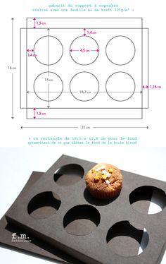 Cupcake box tutorial on Pinterest