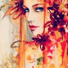 Watercolor on canvas by Janesko . #art #watercolor #fashionillustration