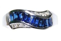 Wedding 18K White Gold Gemstone Diamond Blue Sapphire Ring [RQ0033] BKGjewelry http://www.amazon.com/dp/B00CDO2F2C/ref=cm_sw_r_pi_dp_eR6kwb0Q25TAS
