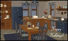 2015 Winter Holiday Gift: 3t2 Provence Kitchen Fall Dining Table, A Table, Provence Kitchen, Winter Holidays, 2015 Winter, Cottages And Bungalows, Barn Living, Tier Curtains, Christmas Stocking Stuffers