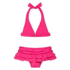 Juicy Couture Beach Baby Halter bikini. And yes! I would let my baby wear it! ❤️