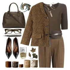 """Tweed Jacket"" by grozdana-v ❤ liked on Polyvore featuring Armani Collezioni, Michael Kors, Isabel Marant, Toast, Vivienne Westwood, Steve Madden, Burberry, Nails Inc., Bloomingville and Universal Lighting and Decor"