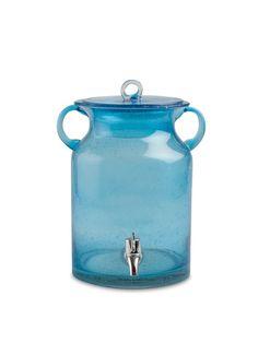 Vintage Bubble Glass Drink Dispenser - as a laundry soap dispenser