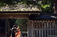 和装前撮り*新郎新婦と神社とたこ | *elle pupa blog*