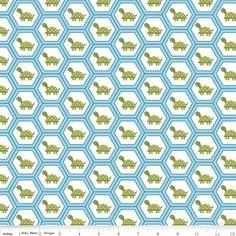 Riley Blake Dandy Turtles Blue Cotton Fabric