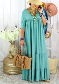 African Maxi Dresses, Latest African Fashion Dresses, African Dresses For Women, African Print Fashion, Blue Dresses, Simple Dresses, Casual Dresses, Types Of Skirts, Mode Style