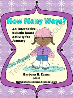 How Many Ways? - January Edition from Its About Time Teachers on TeachersNotebook.com -  (19 pages)  - Exercise critical thinking while practicing math skills with How Many Ways? -- January Edition. Provides differentiation for all elementary grade levels and lasts for the entire month. Similar to Boggle, but for math. CCSS aligned.
