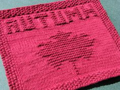 One Crafty Mama: Autumn Leaf Dishcloth Fall Knitting Patterns, Knitting Squares, Dishcloth Knitting Patterns, Crochet Dishcloths, Knitting Ideas, Crochet Patterns, Knitting Stitches, Stitch Patterns, Knit Crochet